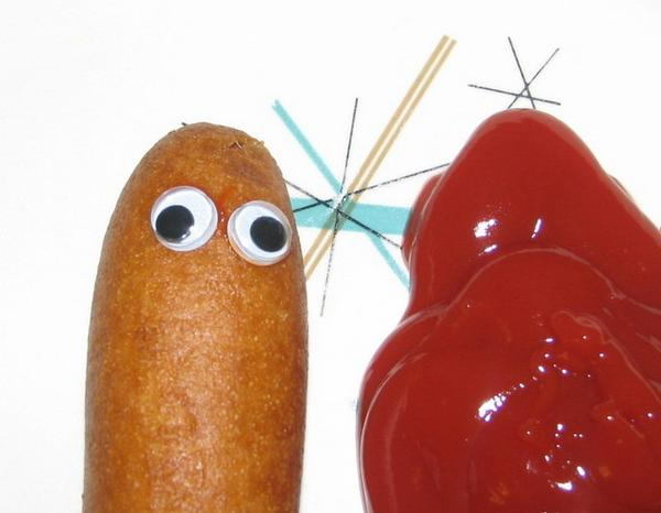 corn dog ketchup