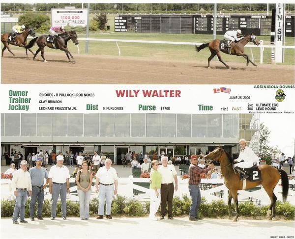 Wily Walter won three races in a row for the Nokes Stable in Horses by