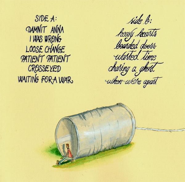 talking through tin cans (back) in cover art by 