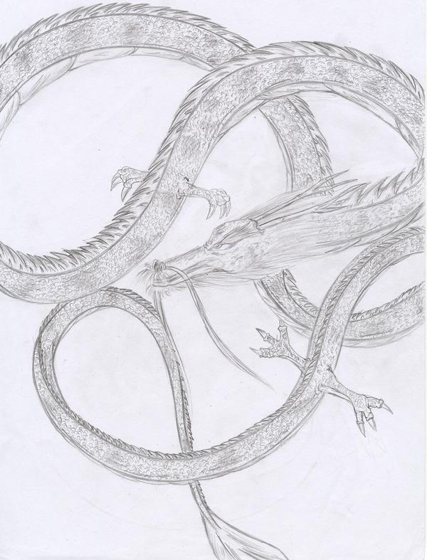 Dibujos de dragon a lapiz - Imagui