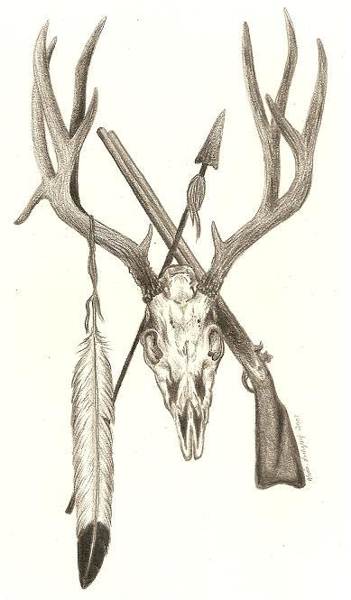 Mule Deer Skulls http://www.myspace.com/outdoordreamsillustration/photos/2186715#!