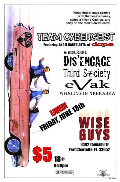 June 18th @ Wise Guys in Port Charlotte, FL.  18+ / $5 in Show Fliers! by Sally Debauchery