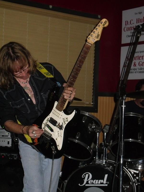 Lead Guitar Jeff Barkan in Fired At Shorters by