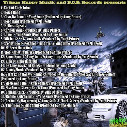 King Of Kings Vol.1 Back Cover Solo Mixtape