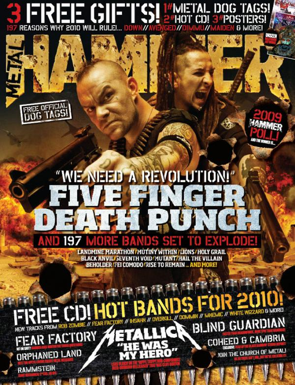 On The Cover of Metal Hammer's  2010 February Issue in My Photos by