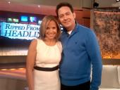 With the beautiful Katie Couric in New York...we have same innitials....eat ur heart out kenny chesney!!!  lol