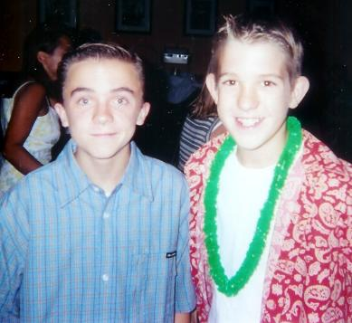Joe with Frankie Muniz    Hope For Joe Pichler