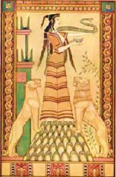 La Sacerdotessa dei Leoni... Artemide o Cibele    Feles
