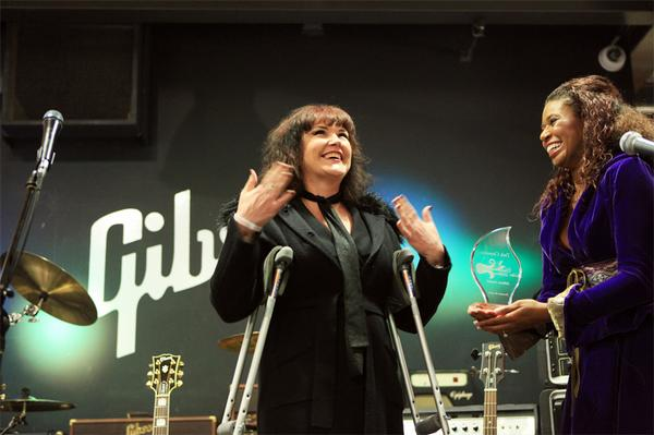 Tish Ciravolo, President and Founder of Daisy Rock Girl Guitars, receiving 'The Trailblazer Award' from Guitar Goddess Magazine! in My Photos by