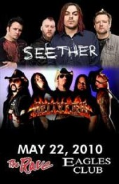 Photo of The Rave Welcomes SEETHER / HELLYEAH! on May 22nd